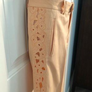 Catherine Malandrino Shorts - Long shorts w/lace cut out details